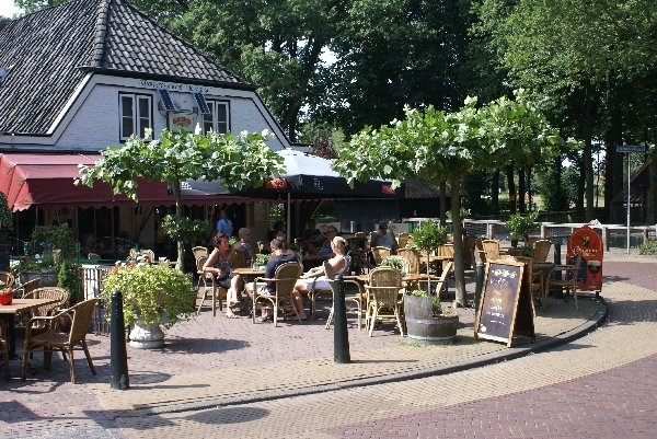 One of the many restaurants and cafes in the village