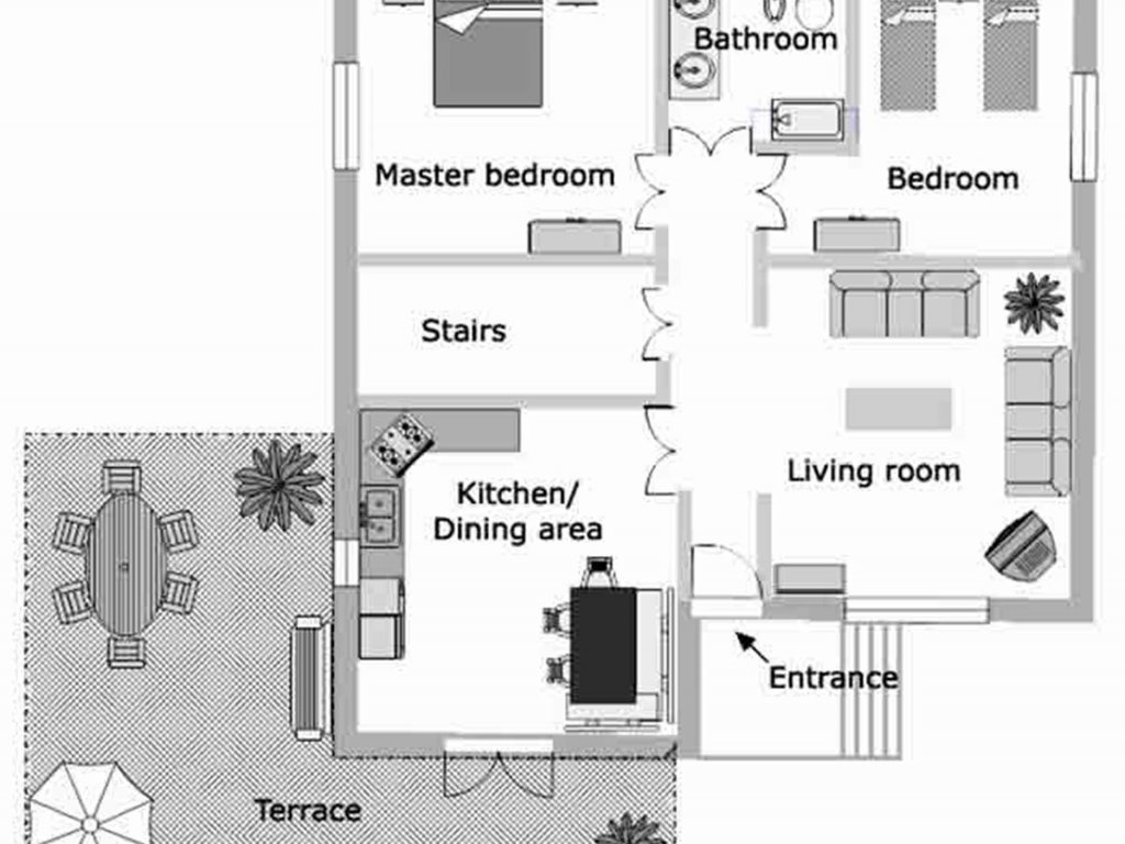 Plattegrond grote appartement