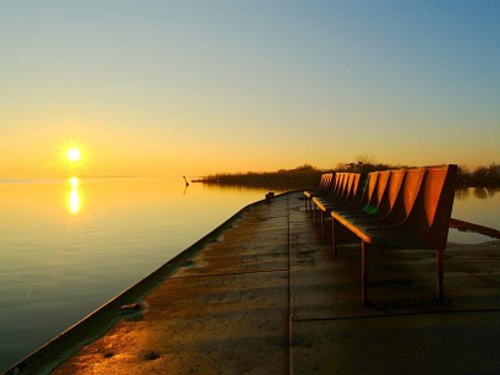zonsondergang bij Tjeukermeer